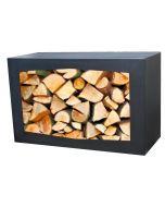 Gardenmaxx woodbox voor houtopslag zwart